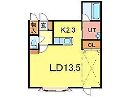 ヴィード2[2階]の間取り