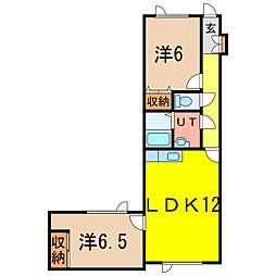 スターハイツ常盤公園[2階]の間取り