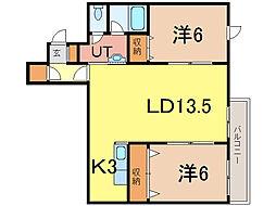 ラヴェニュー[3階]の間取り