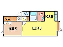 コスモ・クリオネ[2階]の間取り