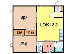 10・9ハイツA棟[1階]の間取り