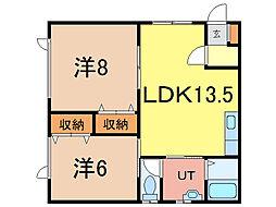 10・9ハイツB棟[1階]の間取り