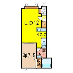 アースヒル[2階]の間取り