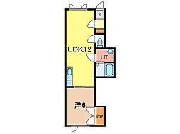 ラ・ルミエールII[1階]の間取り