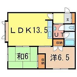 TSハイツB[2階]の間取り
