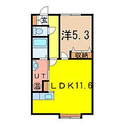 ビクトリー神居[1階]の間取り