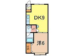 スカイハイツ大町2−2[2階]の間取り