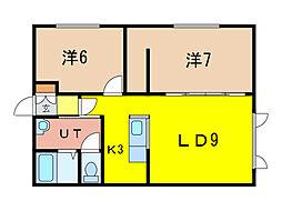SEKIEN[2階]の間取り