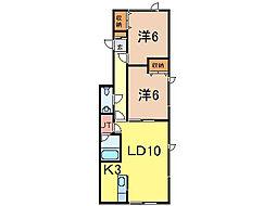 タイトリバー202[2階]の間取り