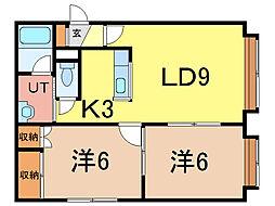 オーベルジュ9[2階]の間取り