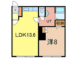 ディアー1.1[2階]の間取り