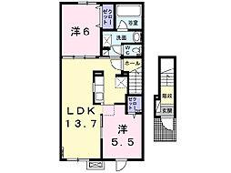 プラシードKII[2階]の間取り