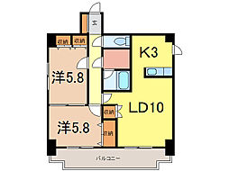 ディアー1条[4階]の間取り