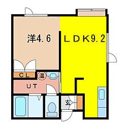 メゾン・ド・カミーユ B[1階]の間取り