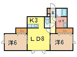 SKY Manshon[2階]の間取り