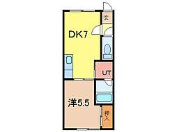 ロピア146[2階]の間取り
