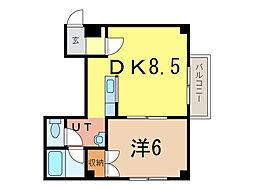 イーグル311[3階]の間取り