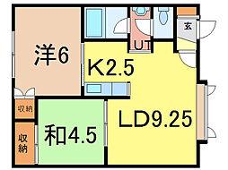 トミーM.S[2階]の間取り