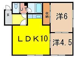 北野マンション[2階]の間取り