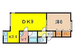 チェリー15・5A[1階]の間取り