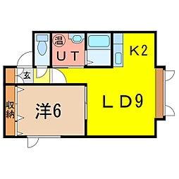 ワーハウス2003[2階]の間取り