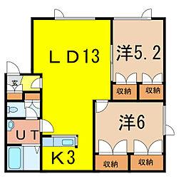 TWIN HOUSE[2階]の間取り