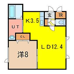 Lavita神居[2階]の間取り