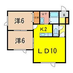 MKマンション[1階]の間取り