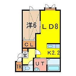 ルピナスB[2階]の間取り