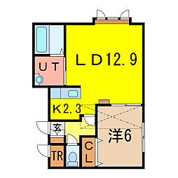 ルピナスC[2階]の間取り