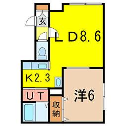 パールハウスYMII[1階]の間取り