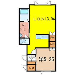 ラポール瀧川[1階]の間取り