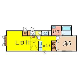 ロール A棟[2階]の間取り