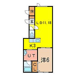 豊岡ウエルカム 11号棟[1階]の間取り