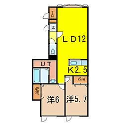 コムハウスVI[2階]の間取り