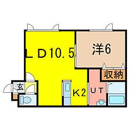 グランピア6・11[1階]の間取り