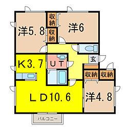 Syoei 松栄[1階]の間取り