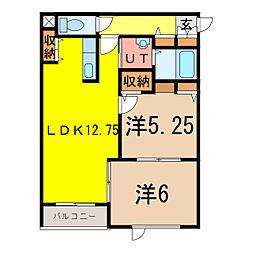 CLUTCH[2階]の間取り