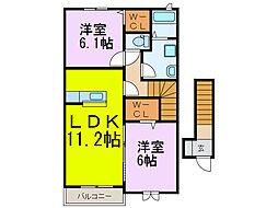 アグリアブルI[2階]の間取り