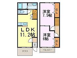 [テラスハウス] 埼玉県加須市柳生 の賃貸【/】の間取り