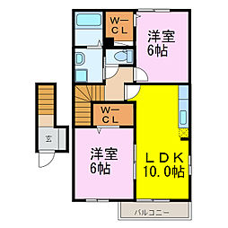 ひまわりII[2階]の間取り