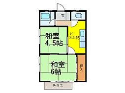 富士荘[1階]の間取り