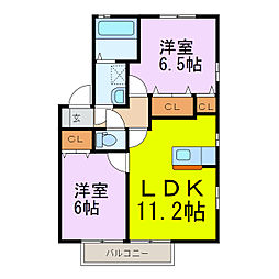 ウィルモア壱番館/弐番館[1階]の間取り