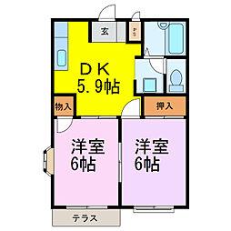 エルディムキムラII[2階]の間取り