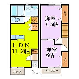 [テラスハウス] 埼玉県加須市多門寺 の賃貸【/】の間取り