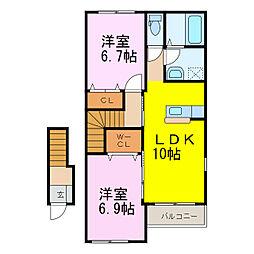 仮)南小浜スターテラス[2階]の間取り