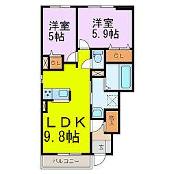 (仮)土手2丁目アパートI[1階]の間取り