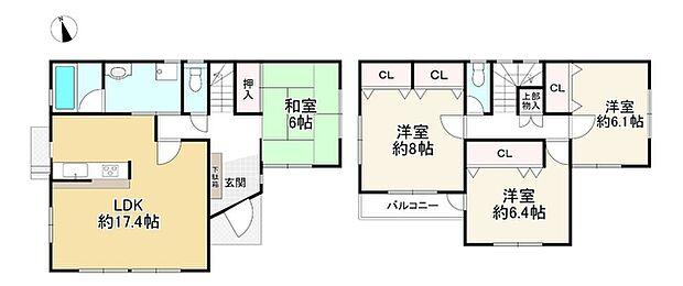 神戸電鉄有馬線 鈴蘭台駅より 徒歩19分(4LDK)の間取り