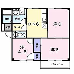JR山陽本線 明石駅 バス16分 王塚台7丁目下車 徒歩2分の賃貸アパート 2階3DKの間取り