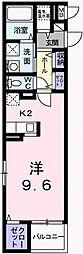 ブリーズコート城北 3階1Kの間取り